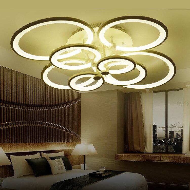 Creative LED 4/ 6/8/10heads Acrylic Ceiling Light / Round Home Commercial Lighting Adjustable Light 90-265V