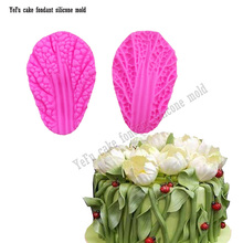 3D Chinese Cabbage leaves leaf Flowers Silicone Mold for Kitchen Baking Accessories Fondant cake decorating tools FT-817