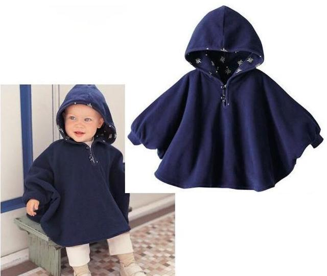 2 Color Children baby hooded cloak  double-sided Cape High quality kids clothing wholesale
