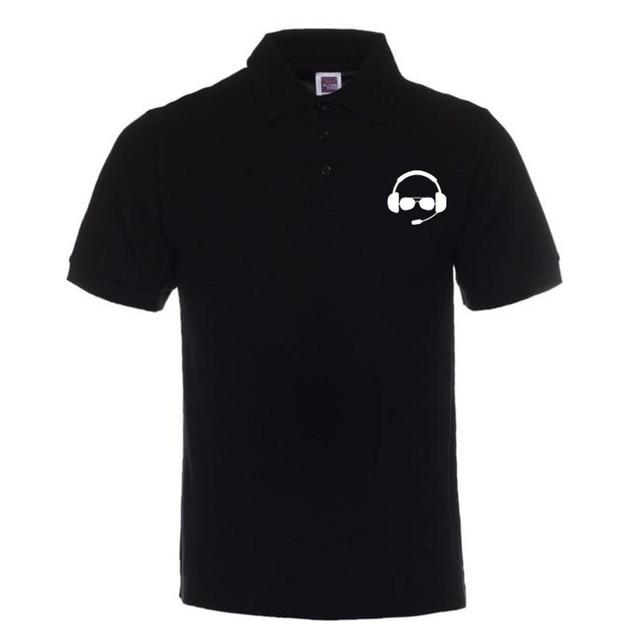 Xqxon Man Polo Shirt Great Pilot Helmet Airplane Flight Headset