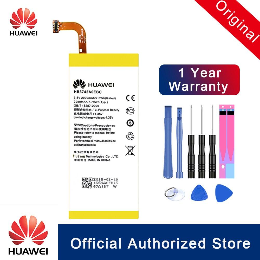 Hua Wei 100% Original Bateria Para Huawei Ascend p6-c00 P6 P6-U06 HB3742A0EBC p6-T00/Ascend G6 G620 G621 G620s G630 bateria Akku