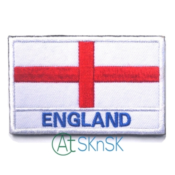 50pcs /set UK Flag Patches For Clothes Jeans England Embroidered Iron On Patch Badges Applique Clothing Decor Accessory new