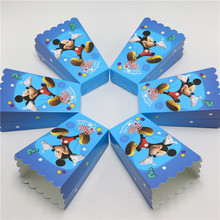 paper popcorn box/cup mickey  mouse theme party 10pcs/lot decoration for baby happy birthday party supplies  favor baby shower