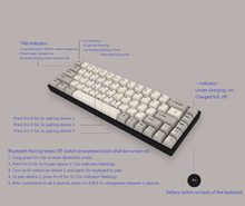 Bluetooth Mini 68 Tombol Keyboard Mekanik Bt Portable Cherry Switch Putih LED Pewarna Sub PBT Keycap Tada68 Pro Programmable(China)