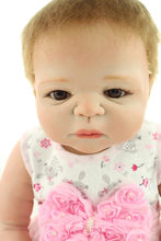 Full Silicone Vinyl Reborn Baby Doll Dressed In Cute Short Skirt With Pink Bow Adora Bonecas As Children Toys At Christmas Days