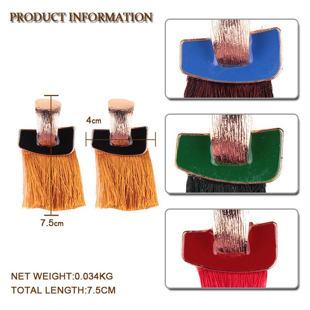 Simple Design Tassel Earrings