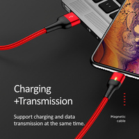 USAMS Magnetic Cable Micro Usb Type C Fast Charging Adapter Phone Microusb Type-C Magnet Charger Usb C For iphone Huawei Samsung Xiaomi
