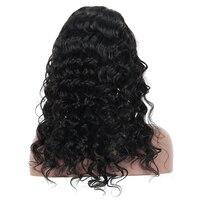 180%密度事前摘み取らフルレース人間の髪の毛のかつら髪ブラジルレミーグルーレスフルレースかつら女
