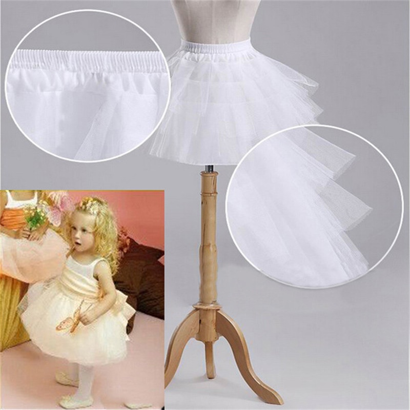 Brand New Children Petticoats For Formal/Flower Girl Dress 3 Layers Hoopless Short Crinoline Little Girls/Kids/Child Underskirt