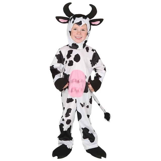פעוט ילד ילדי קוספליי יפה חלב פרה חורף ליל כל הקדושים