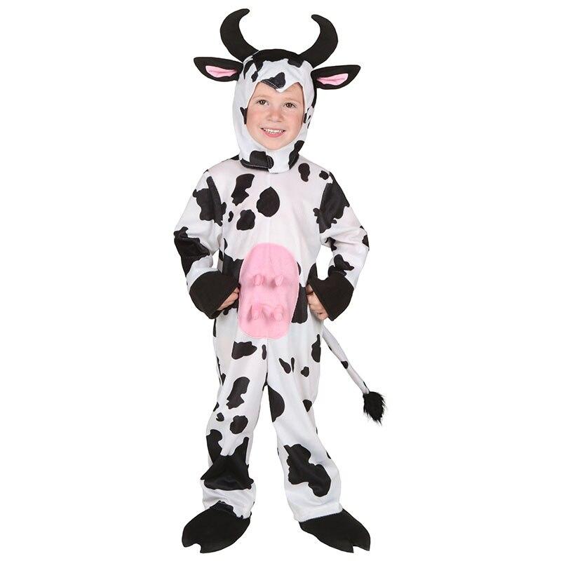 Enfant en bas âge enfants Cosplay belle vache à lait hiver Halloween Costumes Adorable et confortable tenue hiver chaud animaux vêtements