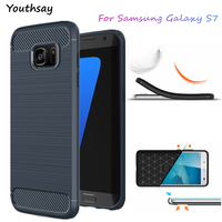 For Samsung Galaxy S7 Case Luxury Soft Silicone Phone Cover For Samsung S7 G9300 Shockproof Slim