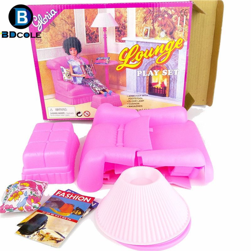 BDCOLE Lounge Play set in Living Room Pretend Play Toys for Barbie ...