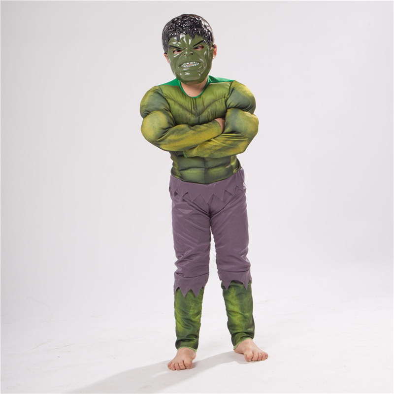 Cosplay Robert Bruce Banner Avengers Hulk Costumes Kids Hulk Muscle Suit & Mask Theatrical Costumes