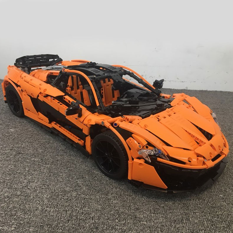 New Technic The MOC-16915 Orange Super Racing Car Building Blocks Toys Compatible With Legoings 42083