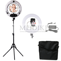 Yidoblo white FS 480II Dimmable Pro 2 colors adjustable beauty salon makeup 48W 480 LED Ring Light LED Lamp+ 2M standing+Bag Kit