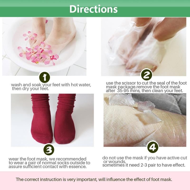 1pack Baby Foot Mask Peeling Foot Care Renewal Foot Mask Remove Dead Skin Cuticles Heel Socks for Pedicure Exfoliating Foot Mask 5