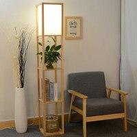The new Chinese modern minimalist living room Floor lamps bedroom bedside lamp lighting creative study bookshelf Floor lamp