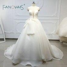 Vintage Simle Trouwjurken 2019 Organze Vestidos De Novia Plus Size Robe De Mariee Baljurken Gelinlik Suknia Slubna