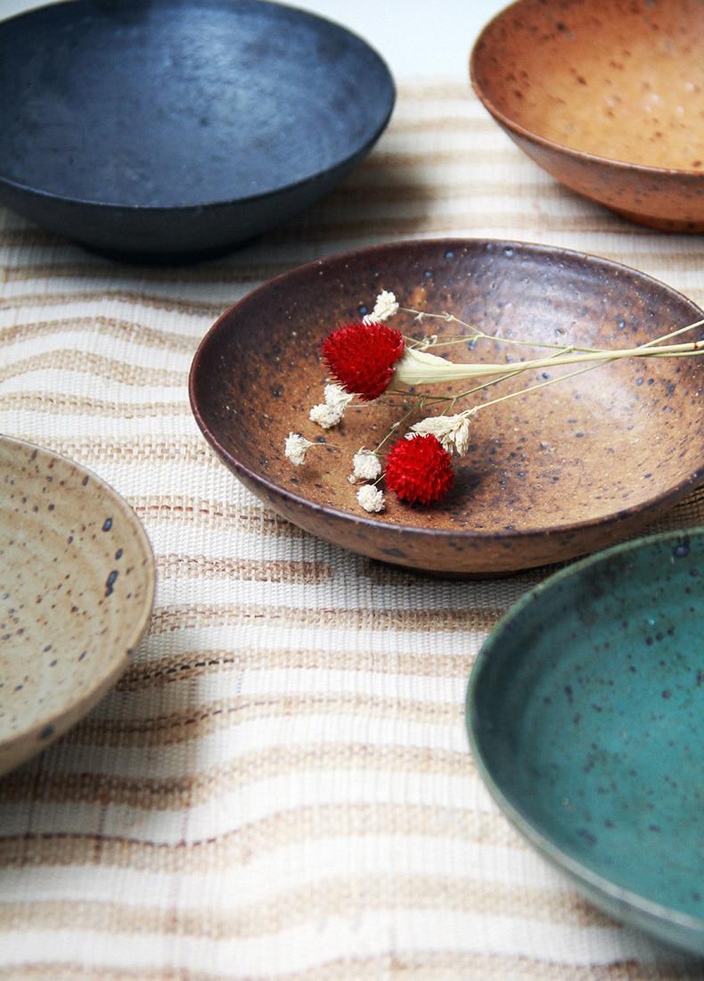 Porcelain Dinnerware Plate Japanese Zen Style Dishes for Salad Dessert Plate Handmade Plate & Porcelain Dinnerware Plate Japanese Zen Style Dishes for Salad ...