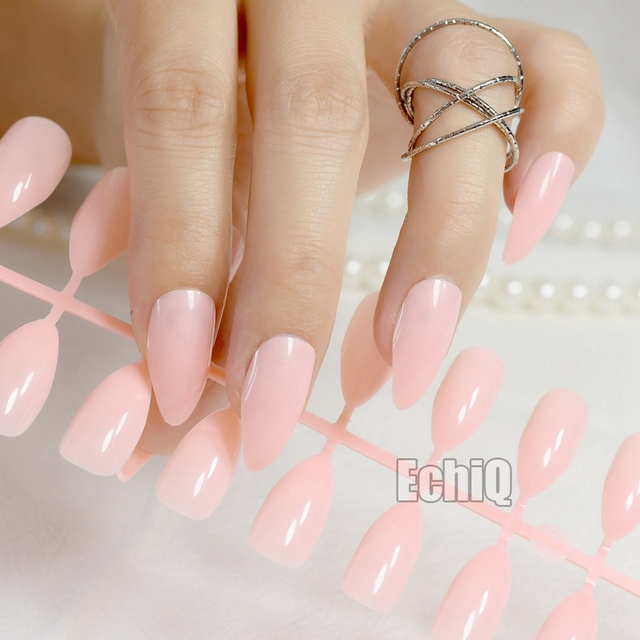 Aliexpress buy full nail art tips pink pointed diy faux full nail art tips pink pointed diy faux ongles medium size stiletto acrylic fake nails for prinsesfo Gallery