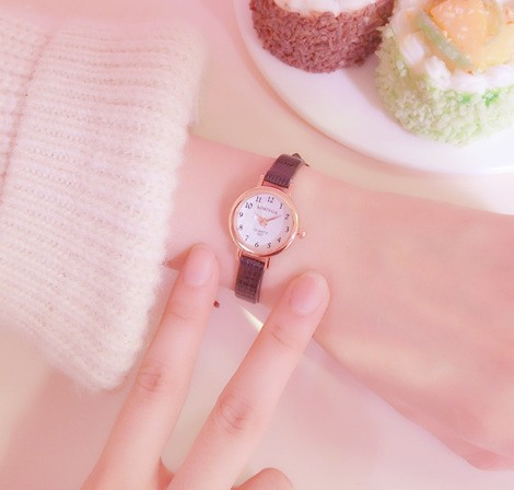 Hot sale top women quartz-watch leather ladies Analog small dail watch women montre femme wrist watches women quartz wrist watch vintage lace flower printed ladies watches casual leather band analog women s watch montre femme reloj