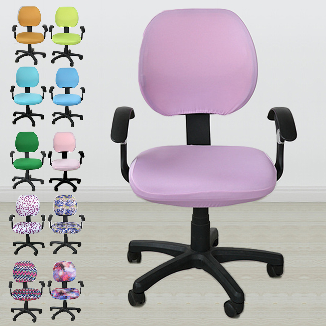 Removable Spandex Chair Cover Stretch Elastic Slipcovers Office Chair For Computer Chair Gaming Chair Chair Covering 20 Colors