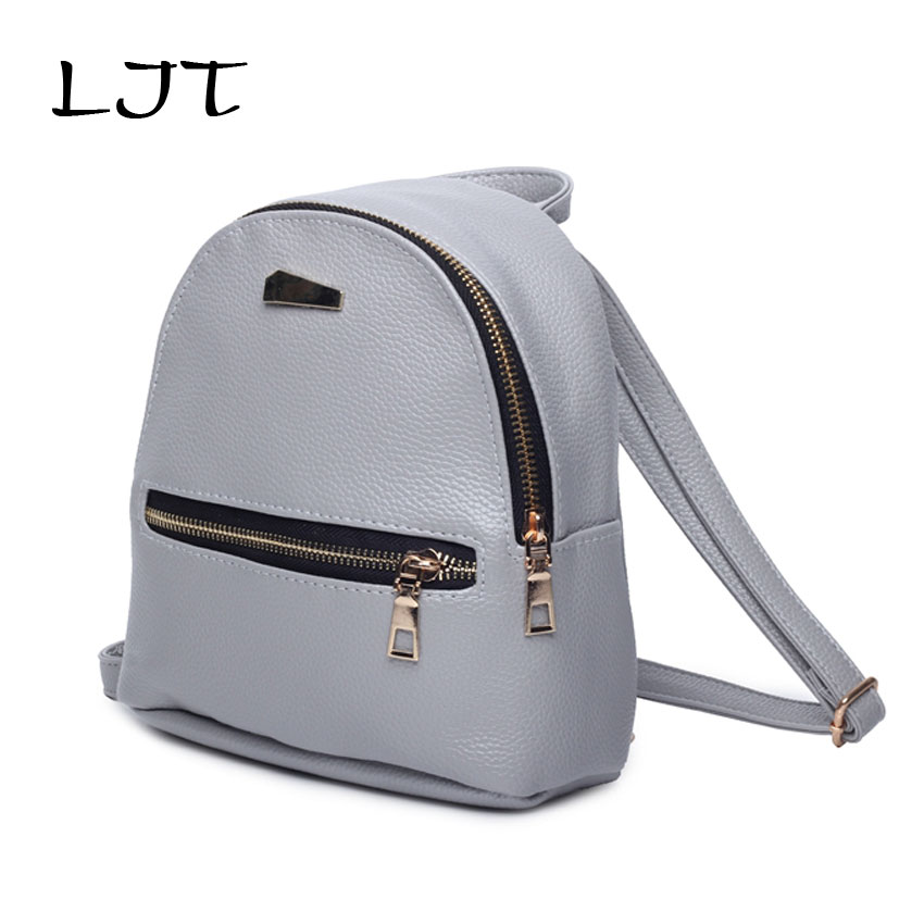 LJT 2017 Summer Cute Women Backpack Mini PU Leather School Girls Bags Female Purse Clutch Purse Famous Brand Mochila Feminina