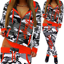 ZOGAA 2019 Women 2 Piece Set Hooded Tops and Pants Sport Wear Casual Outfits Fashion Clothes Tracksuit women sweatsuit