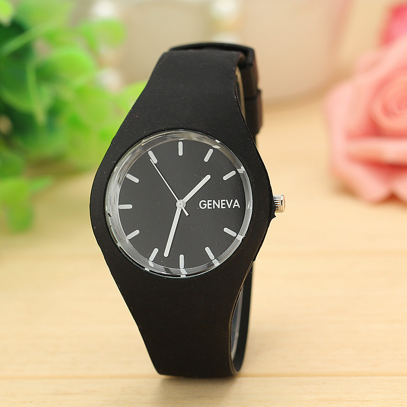 12 Candy Colours Top Brand Geneva Watches Women Sports Jelly Silicone Strap Leisure Ladies Watch Relojes Mujer Christmas Gift