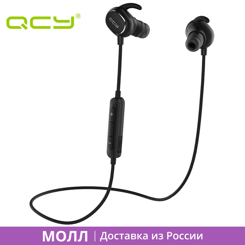MALL QCY QY19 sports earphones bluetooth wireless headset IPX4 sweatproof earbuds for iphone ipad android samsung