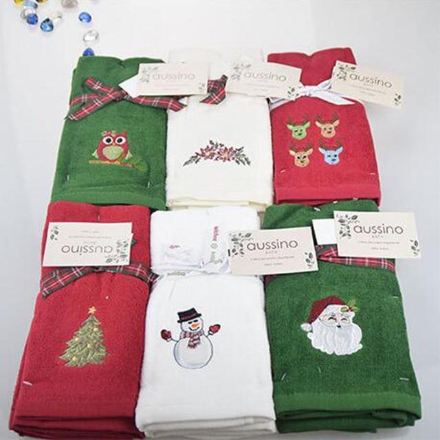 Nuovo Decorativo di Lusso A Mano Set di Asciugamani Tovagliolo di Natale Regalo