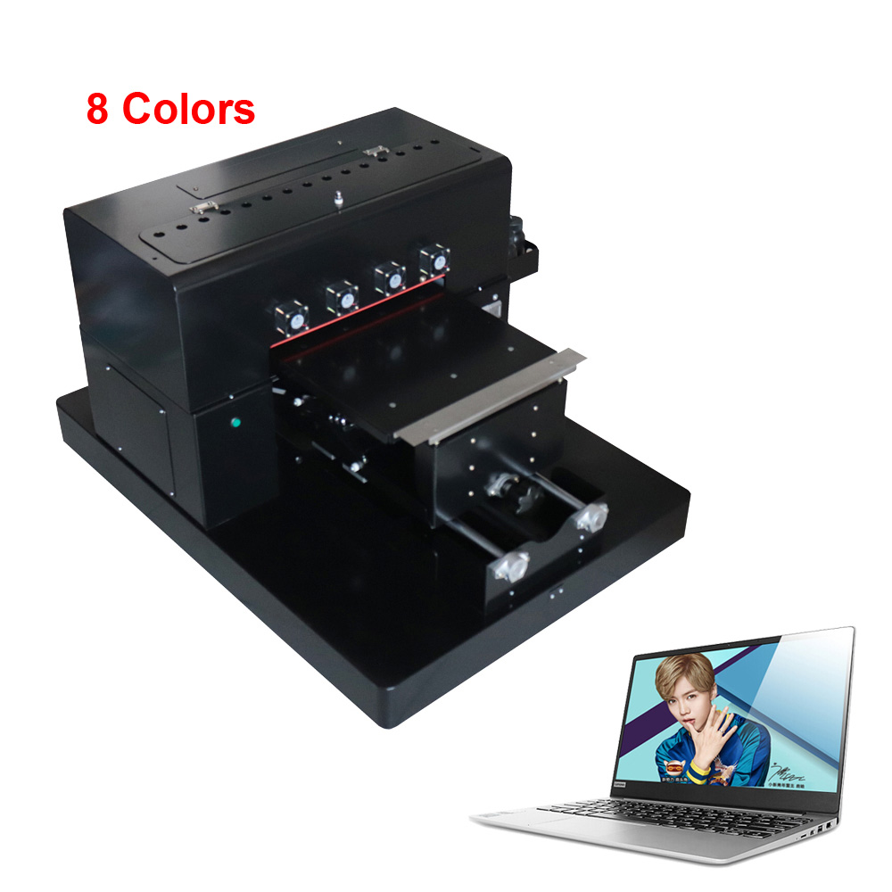 8 Color A3 Size UV Printer with DX5 printhead Phone case printing machine for Phone Case /Glass With computer