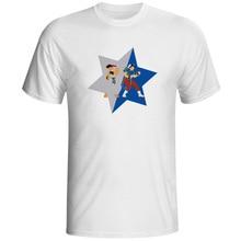 Ryu And Chun Li Share Star T Shirt Creative Punk Hip Hop Game T-shirt Design Brand Fashion Short Sleeve Unisex Tee цена