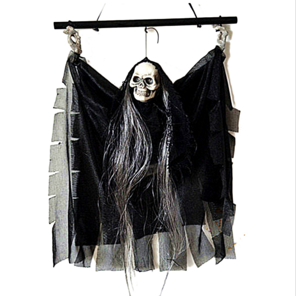 electronic props party bar ktv decoration voice activated hanging skull skeleton ghost halloween decoration ornaments ghost
