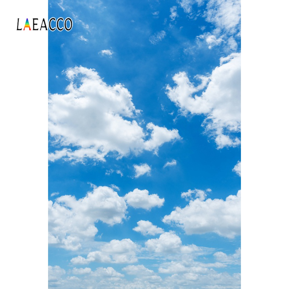 Us 374 22 Offlaeacco Photo Backgrounds Bule Sky Cloudy Sunny Portrait Wallpaper Scenic Photography Backdrops Photocall Photo Studio In Background