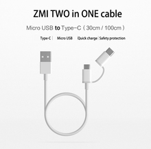 Authentic XIAOMI Charger Cable 30/100cm ZMI 2 IN 1 Usb Knowledge Cable Cost I Cellphone 5 5s 5c 6 6s 6 plus 7  7 plus I pad sequence