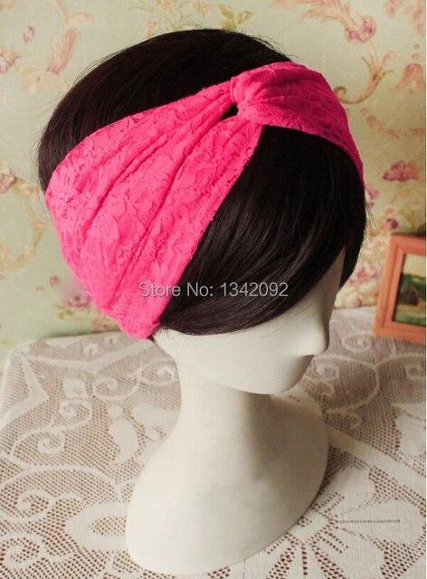 4957d6e3dea2f Moda torção Headband Headwrap BOHO Chic Lolita estilo acessórios de cabelo  para as mulheres pêssego rosa