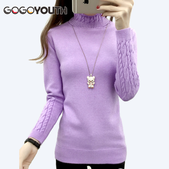 Gogoyouth Winter Sweater Women Turtleneck 2017 Long Sleeve Knitted Jersey Jumper Tops Tricot Women Sweater And Pullover Female