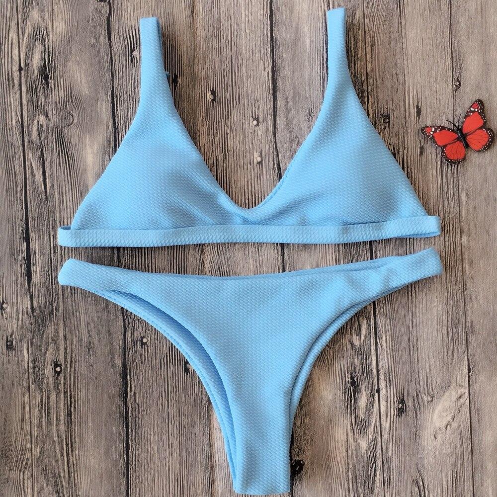 2018 New Sexy Push Up String Micro Mini Bikini Set -6300