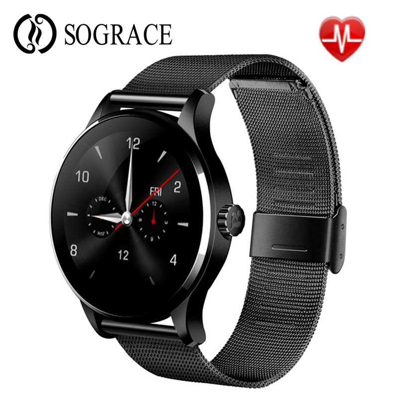 Original K88H Smart Watch MTK2502C Heart Rate Monitor Answer Dial Call Pedometer Clock Men Women Smartwatch for IOS Android psd48g240081