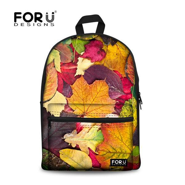 2f2897b67c Fashion Children American Apparel School Bag Vintage Denim School Bag for  Teenager Girls Multicolor Women Maple Leaf Bookbag