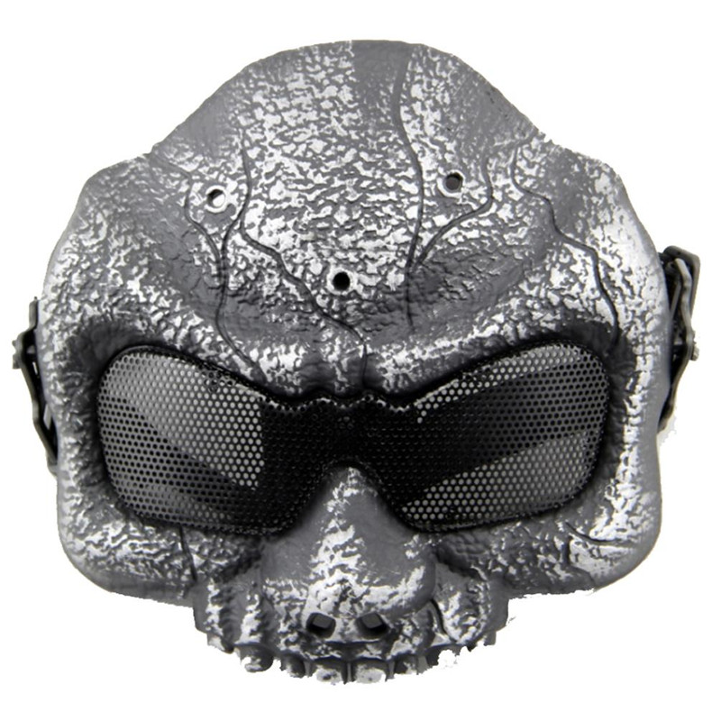 Airsoft Metal Mesh Half Face Tactical Mask Skull Shooting Hunting Wargame Paintball Accessories Military Army Masks