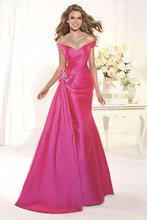 2016 Real New Charming A-Line V-ausschnitt Bodenlangen Taft Abendkleid Formale Kleid Langen Ärmel Abendkleid Vestido De Noche