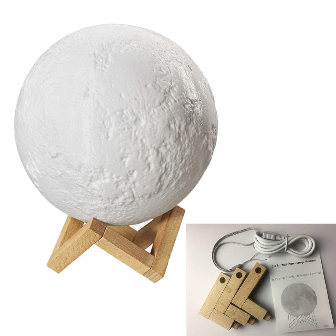 3D печать лунного света индивидуальная Лунная usb зарядка Ночная лампа сенсорный контроль тусклый сенсорный переключатель яркости
