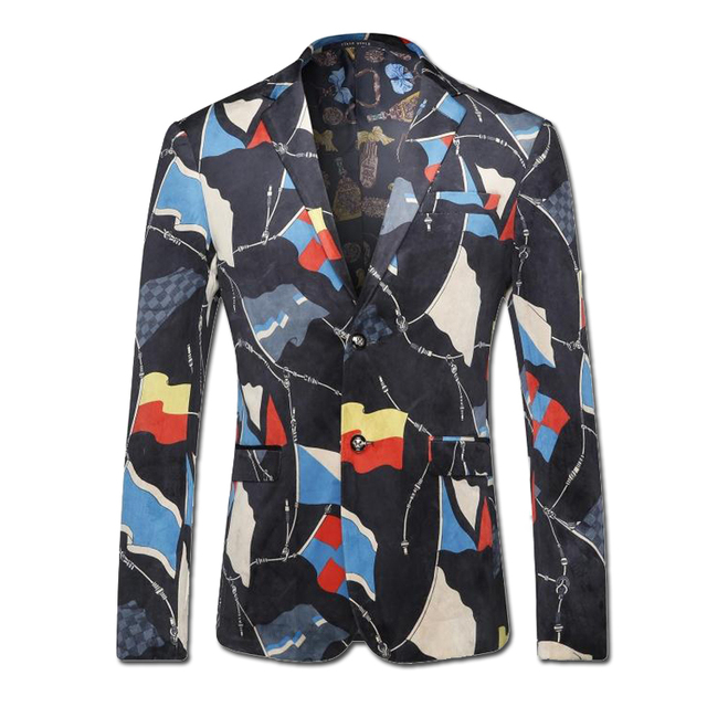 2016 Hombres de Un Solo Pecho Blazers Trajes Vestido Jaqueta masculina de Los Hombres de Moda Casual Slim Fit Manga Larga Blazer Terno masculino