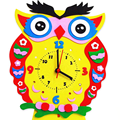 1 Set 3D DIY Creative Handmade EVA Cartoon Animals Clock Puzzle Arts Crafts Kits Baby Kids Early Learning Birthday Gifts Toys