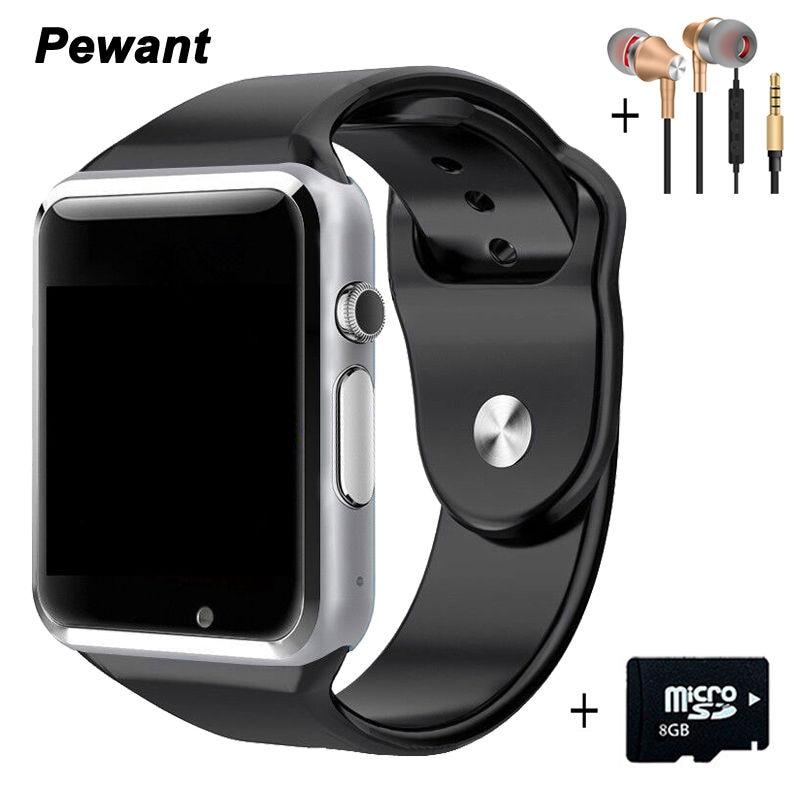 imágenes para Fábrica A1 Reloj Inteligente Con Cámara Tarjeta SIM Llamada Pasómetro Smartwatch Para Xiaomi Huawei HTC Android Teléfono Mejor Que GT08 DZ09