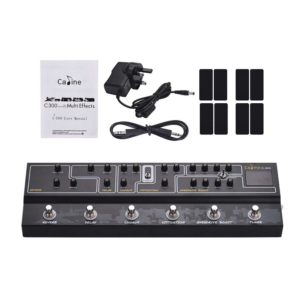 caline c300 multi effects pedal 9v tuner amp modelling guitar pedal effect guitar accessories. Black Bedroom Furniture Sets. Home Design Ideas