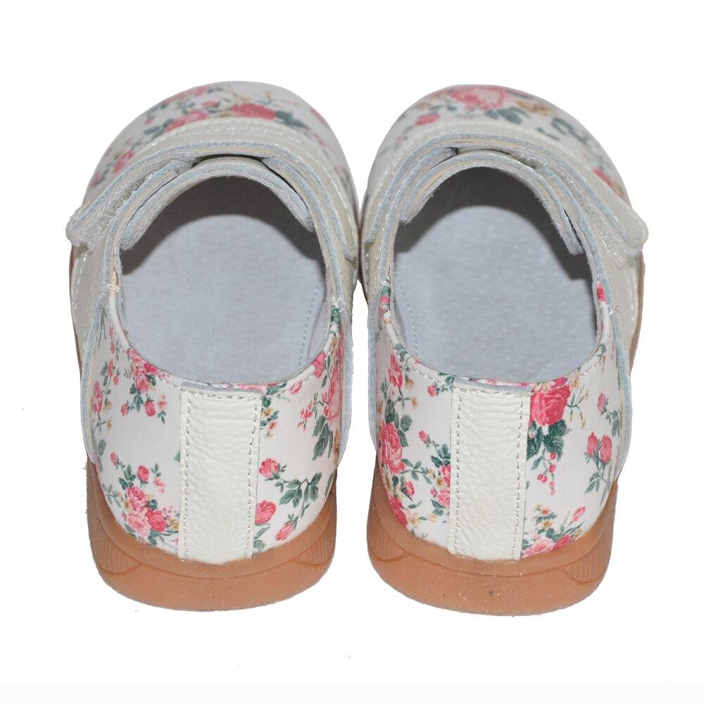 2017 nowe dziewczyny buty prawdziwej skóry róża druku wiosna - Obuwie dziecięce - Zdjęcie 6